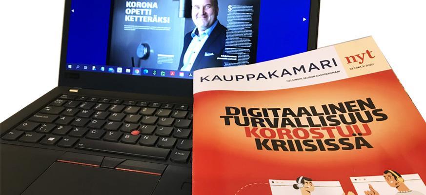 KAUPPAKAMARI nyt on Helsingin seudun kauppakamarin paperinen lehti, josta tehdään myös digitaalinen versio. Lehden artikkelit löytyvät myös kauppakamarin kotisivuiltamme verkkolehden muodossa.