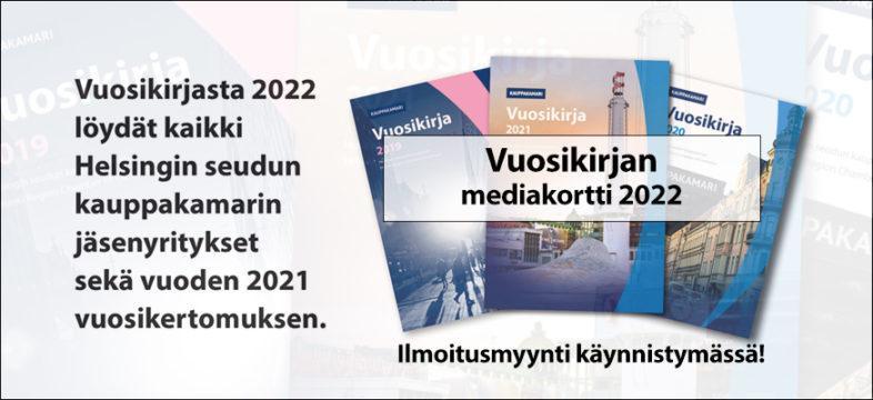 Helsingin seudun kauppakamarin Vuosikirjan 2022 ilmoitusmyynti käynnistyy