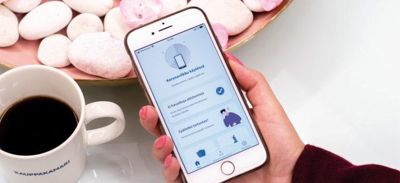 Lataa puhelimeesi koronasovellus, joka on THL:n kehittämä mobiilisovellus.