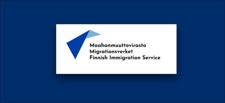 Maahanmuuttoviraston logo.