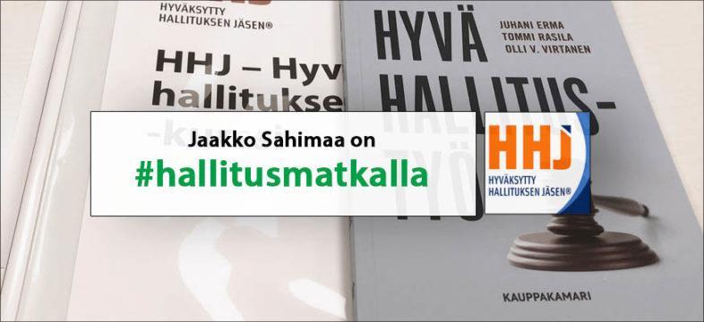 Jaakko Sahimaa on #hallitusmatkalla Helsingin seudun kauppakamarin kanssa.