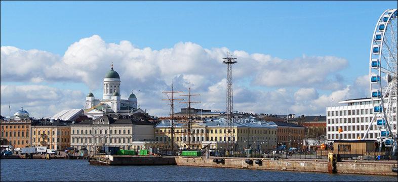 Helsinki mereltä päin katsottuna.