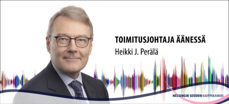 Kauppakamarin toimitusjohtaja Heikki J. Perälä.