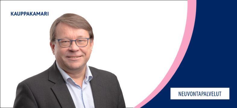 Jukka Koivumäki on Helsingin seudun kauppakamarin veroasiantuntija. Kauppakamarin neuvontapalvelut.
