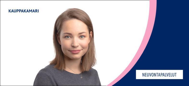 Joanna Anhokanto on Helsingin seudun kauppakamarin lakimies.