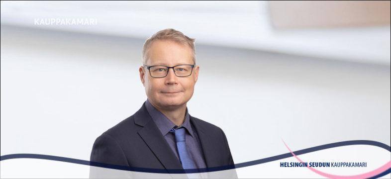 Johtaja Markku Lahtinen Helsingin seudun kauppakamarista.