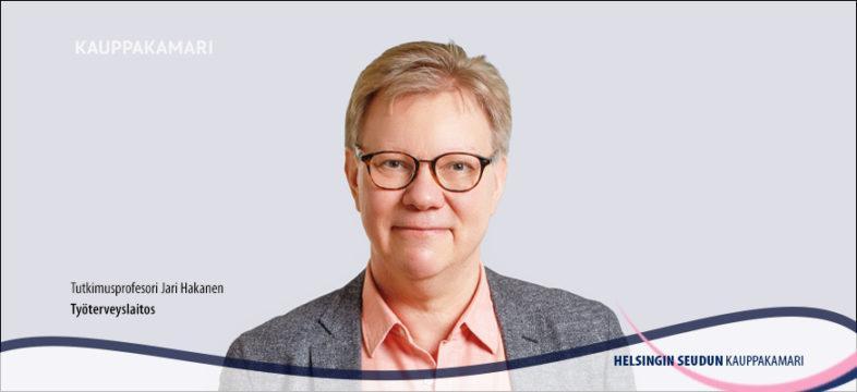 Tutkimusprofessori Jari Hakanen, Työterveyslaitos.