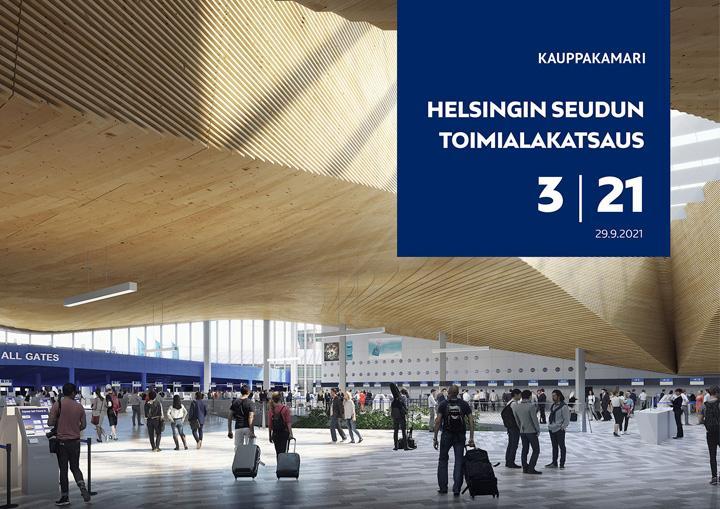 Helsingin seudun toimialakatsauksen kansi 3/2021.
