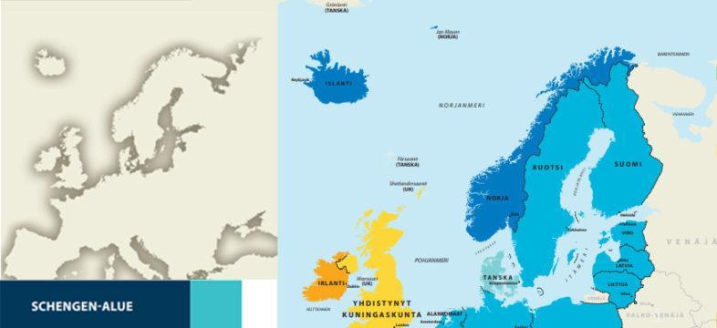 Schengen alue, koronavirus, KauppakamariNYT