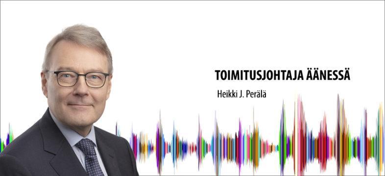 Helsingin seudun kauppakamarin toimitusjohtaja Heikki J. Perälän blogikirjoitus.
