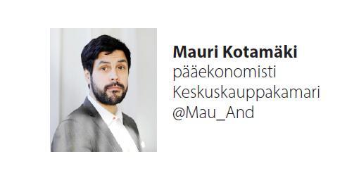 Keskuskauppakamarin Mauri Kotamäki.