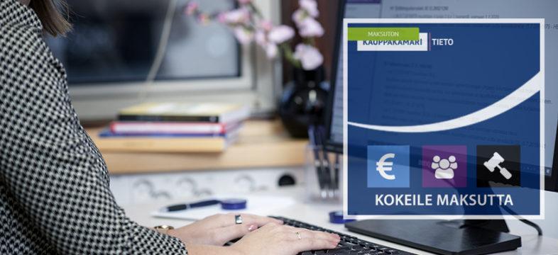 KauppakamariTieto auttaa sinua työssäsi! Tilaa maksuttomat koekäyttötunnukset