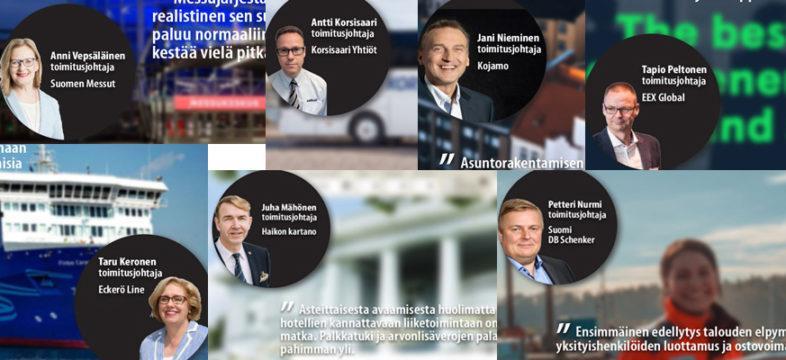 Seitsemän yritysjohtajan kommentit exit-strategiasta