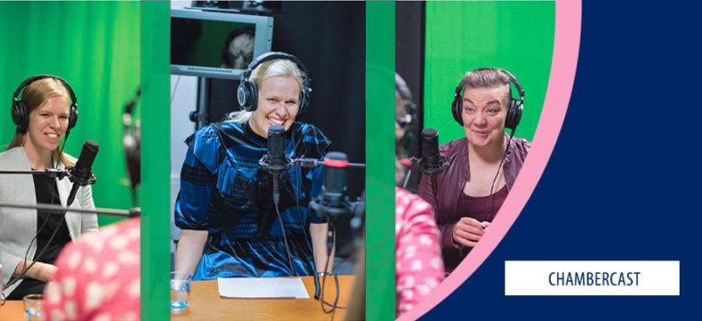 Kesäkuunneltavaa riittää – Chambercastin löydät Soundcloudista sekä Spotifysta. Helsingin seudun kauppakamarin podcast eli Chambercast.