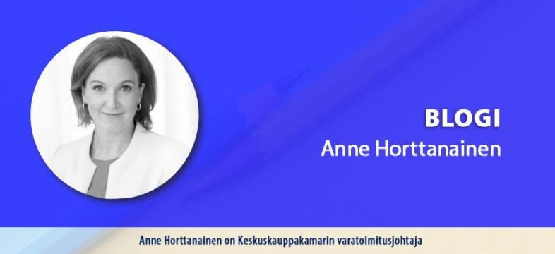 Keskuskauppakamarin varatoimitusjohtaja Anne Horttanaisen blogikirjoitus.