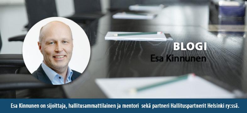 Esa Kinnunen on sijottaja, hallitusammattilainen ja mentori sekä partneri Hallituspartnerit ry:ssä.