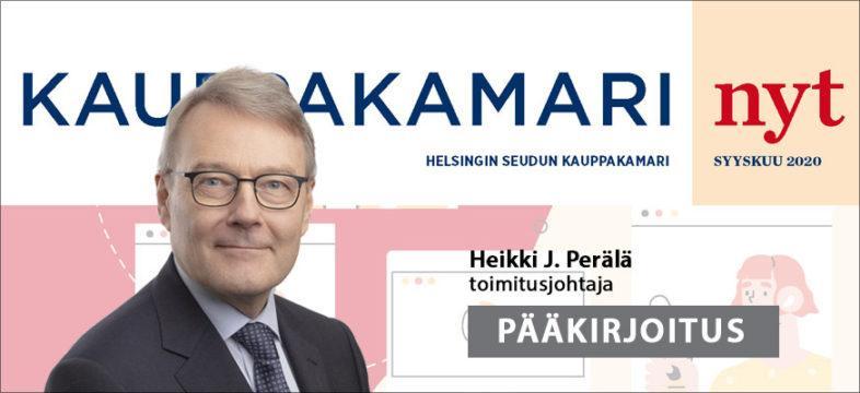 Heikki J. Perälän pääkirjoitus Tietoa yrityksen tarpeisiin.