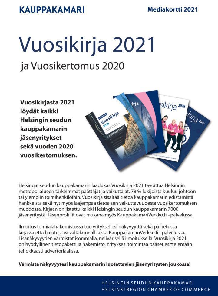 Vuosikirjan 2021 mediakortti