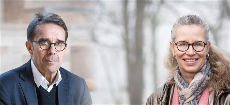 Helsingin kaupunkiympäristön toimialajohtaja Mikko Aho ja Pirkkolan liikuntahalli Oy:n hallituksen puheenjohtaja Kirsi Eräkangas.