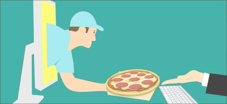 Pizzan ulosmyynti.